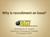 Title slide from Chris Keane's recruitment workshop presentation