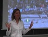 Snapshot from video of Anne Egger\'s recruitment presentation at the 2007 workshop