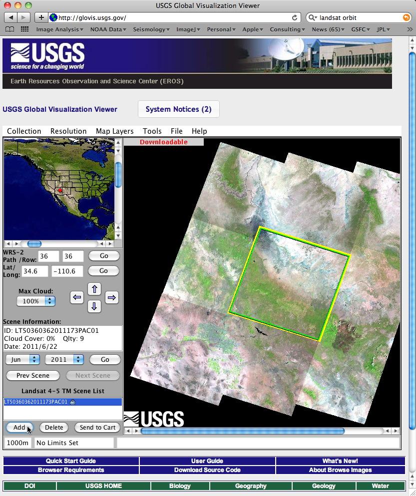 Part 1: Download Landsat Data