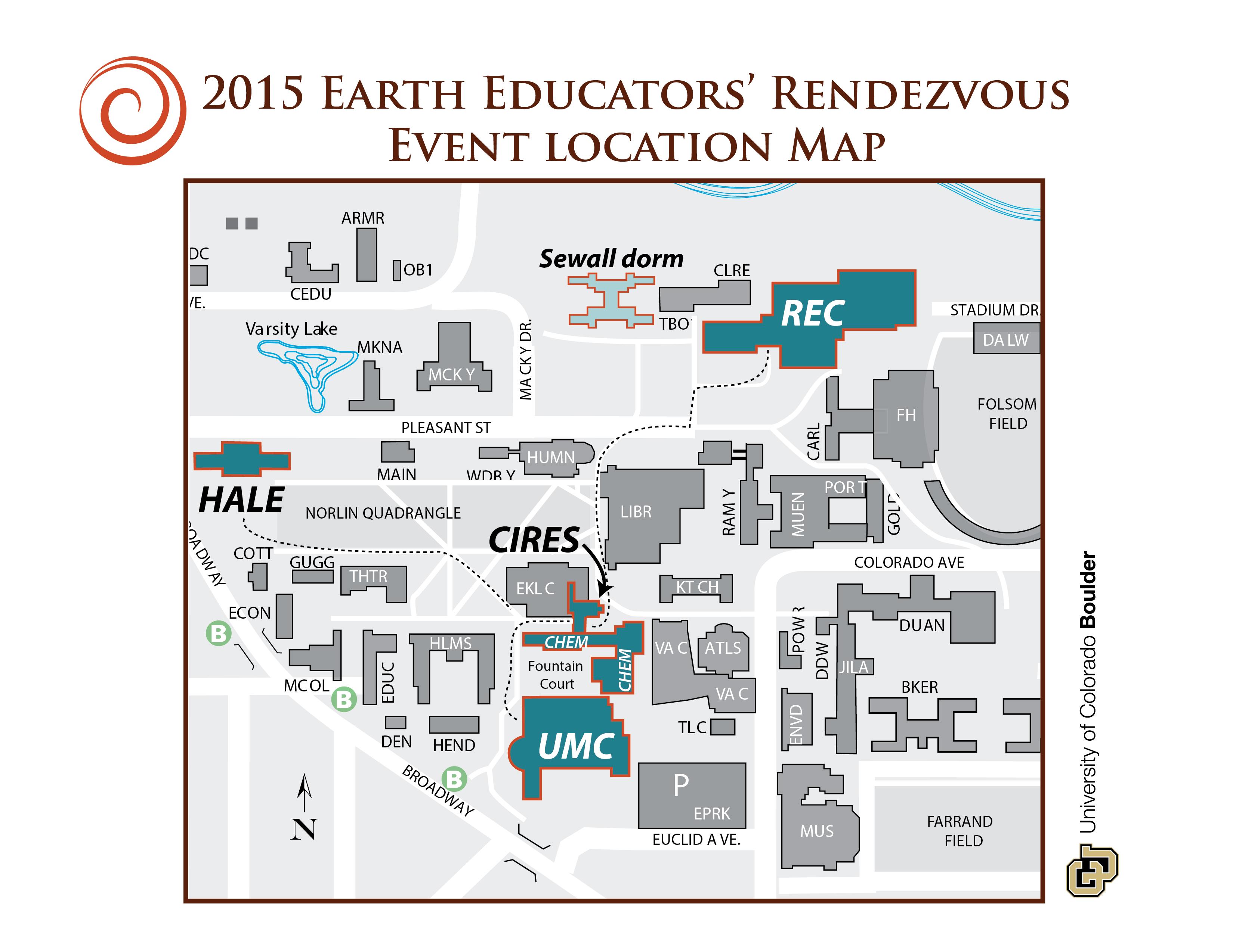Colorado Boulder Campus Map.Cu Boulder Rendezvous Map