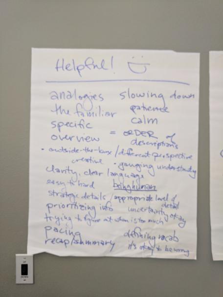 Building a Common Vision helpful brainstorm