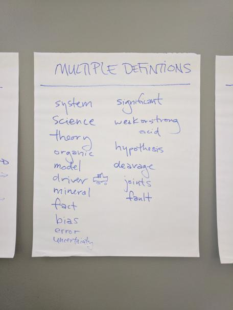 What's in a Word multiple definitions brainstorm