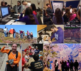 Montage of geoscience instructional practices.