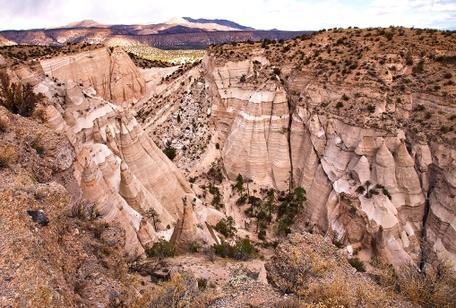 Faulted strata at Kasha-Katuwe Tent Rocks National Monument