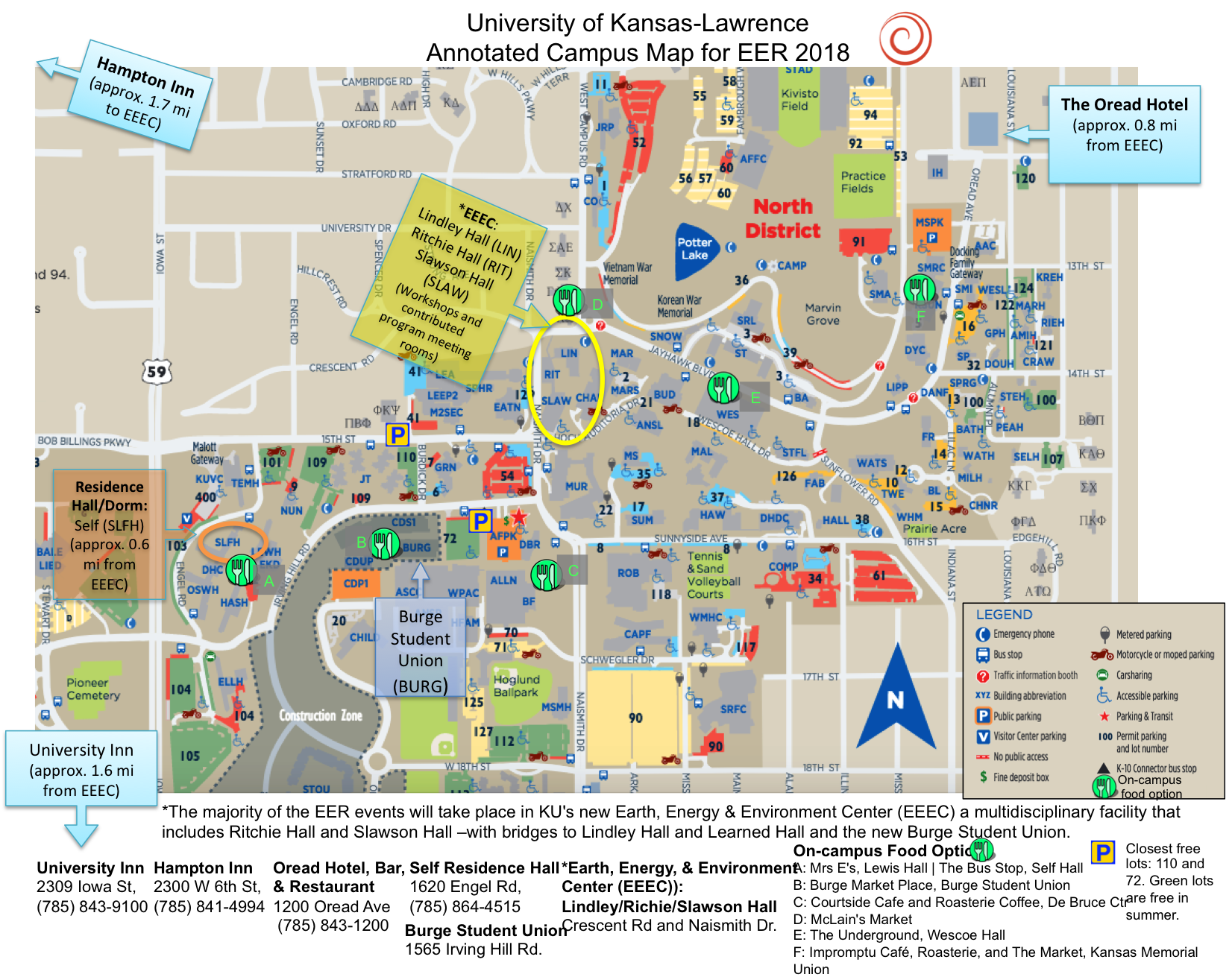 2018 Eer Map University Of Kansas Lawrence
