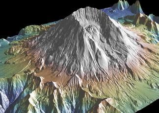 3-D Mount St Helens