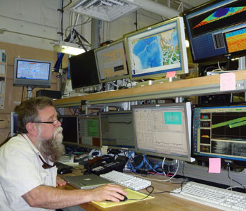 Dale Chayes in Healy computer lab