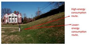 energy demand of hill walking