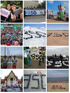 Montage of 350 demonstrators
