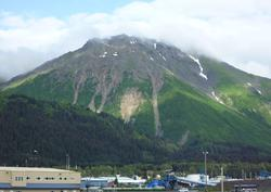 Photo of landslides above Seward AK