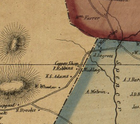 Portion of 1856 Map of Middlesex County MA where Kim's house is