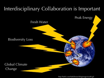 """Important"" slide  from Kim\'s interdisciplinarity talk"