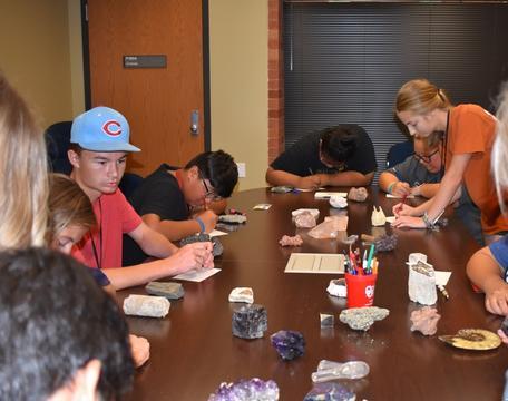 Jones Academy STEM camp 2018 rocks