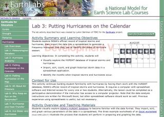 EarthLabs for Educators Example