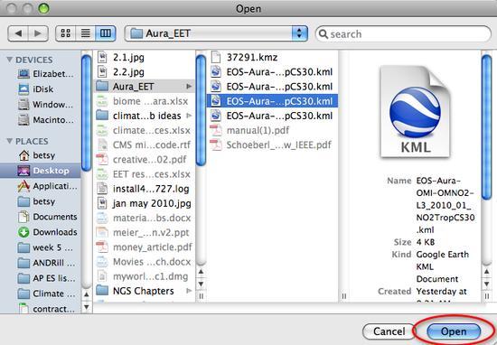 2.3 choose file open