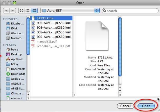 choose file open pop