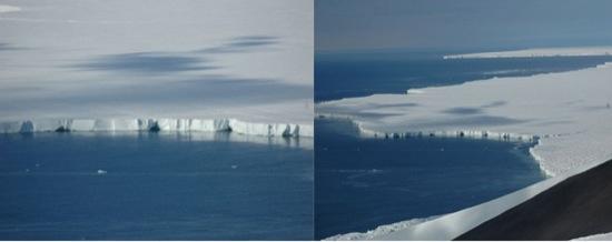 ice shelves