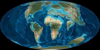 map of eocene