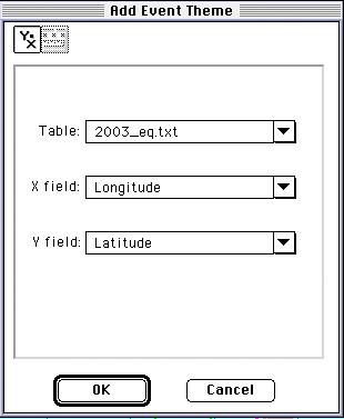 Add last year earthquakes using latlong coordinates