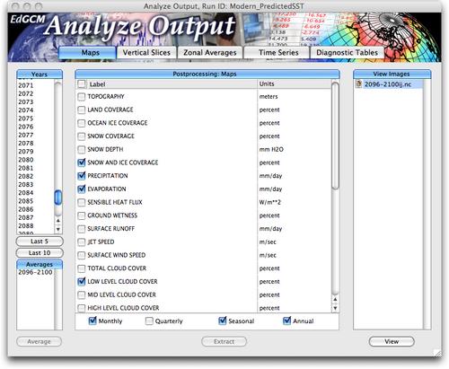 analyze output window map selects