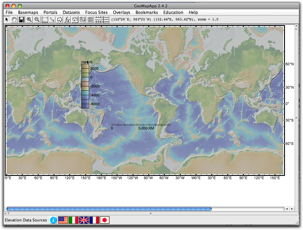 Part 1download geomapapp and explore the seafloor near the color and distance scales on map gumiabroncs Choice Image