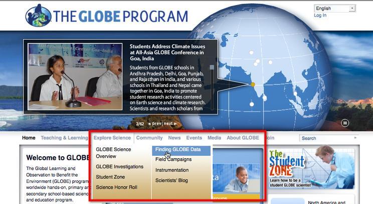 2 finding globe data