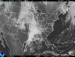 Visible-light GOES image of the 48 contiguous states.