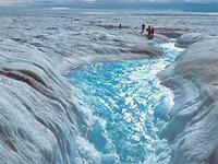 Melt water in greenland