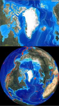 Local and Index view from space maps centered on Greenland