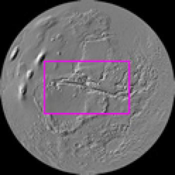 Index image centered on Valles Marineris