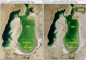 95.5 km across 2001 image 79.5 km across 2003 image