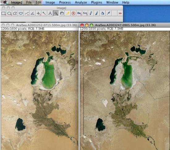 two images side by side