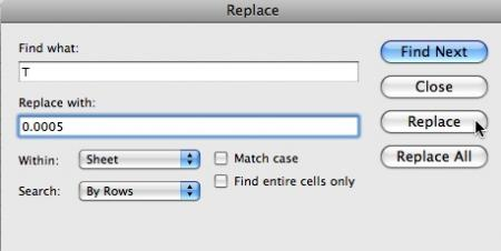 Excel Replace
