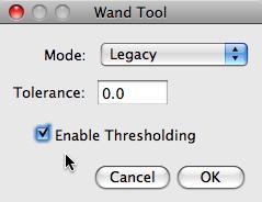 enable thresholding