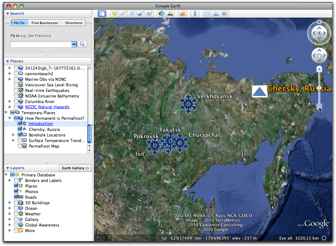 Part 3use google earth to locate chersky russia and explore permafrost boreholes on gumiabroncs Gallery