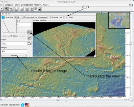 GeoMapApp 3-D image