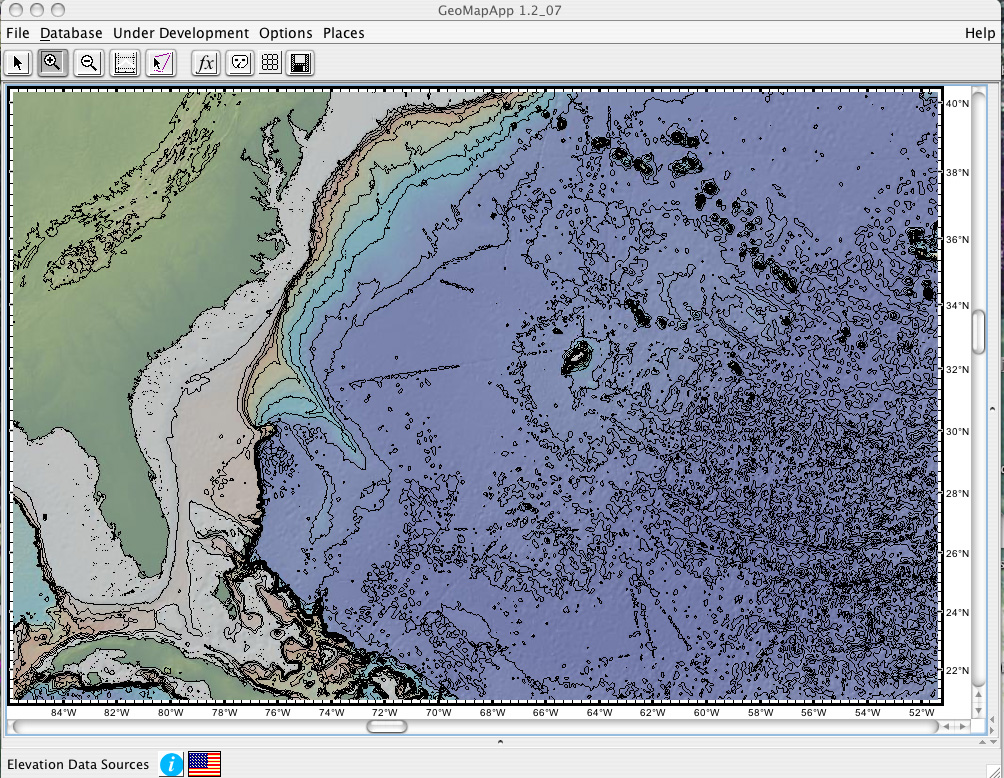 Part 3create and color code a contour map geomapapp contour of the atlantic ocean gumiabroncs Image collections