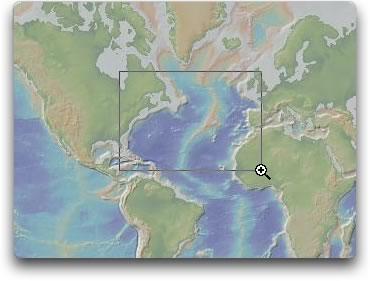 Select the North Atlantic Ocean