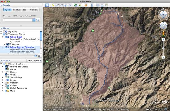 sabino canyon watershed