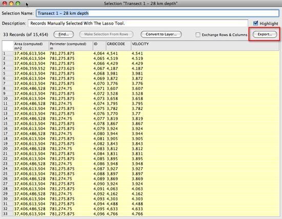 6. export data