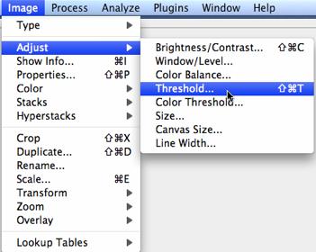image adjust threshold menu2