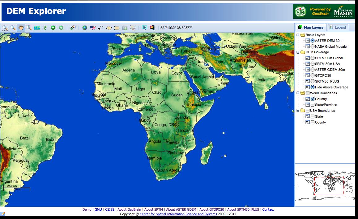 Part Download And Import DEM Data - World dem data