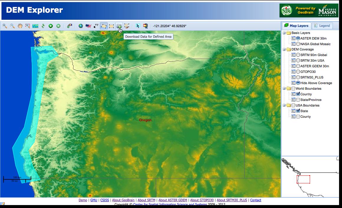 Download Data For Oregon Coast
