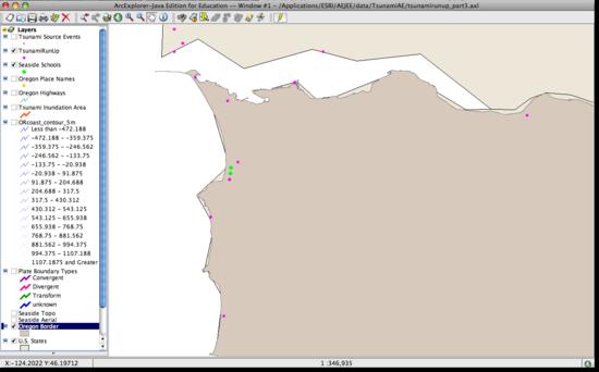 seaside schools on map