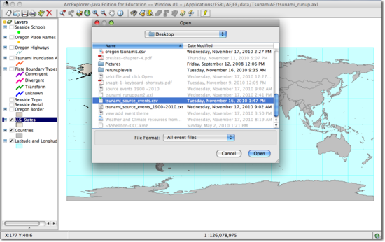 tsunami source events