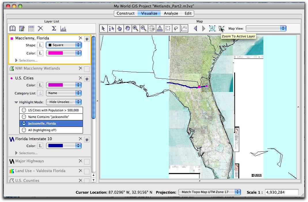 utm zone florida map