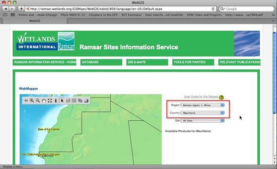RamsarGISSelectAfrica