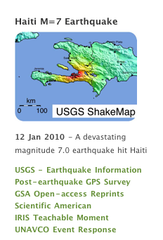 Haiti map of earthquake Jan 12 2010 zone