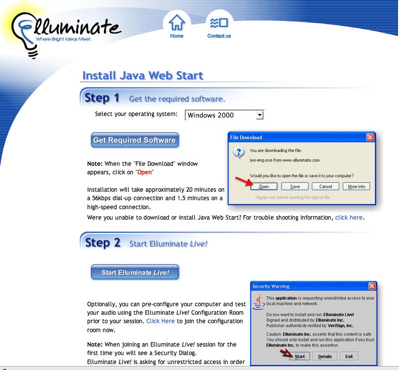 Elluminate Two Step Start