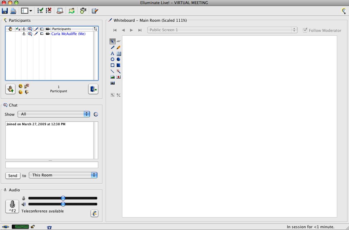Virtual Meeting Empty